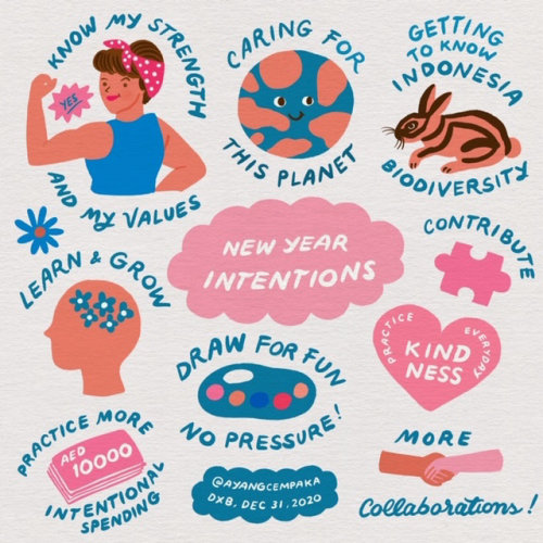 Graphic newyear intentions