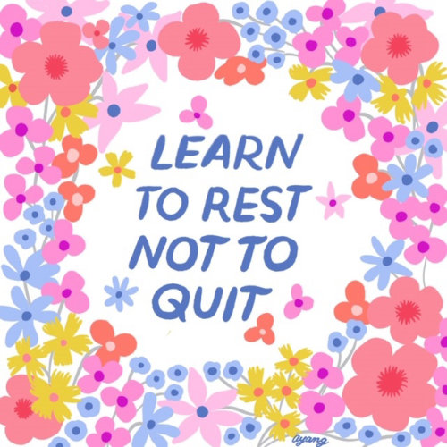 Lettering Learn to Ret not to quit