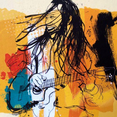 Musician portrait art