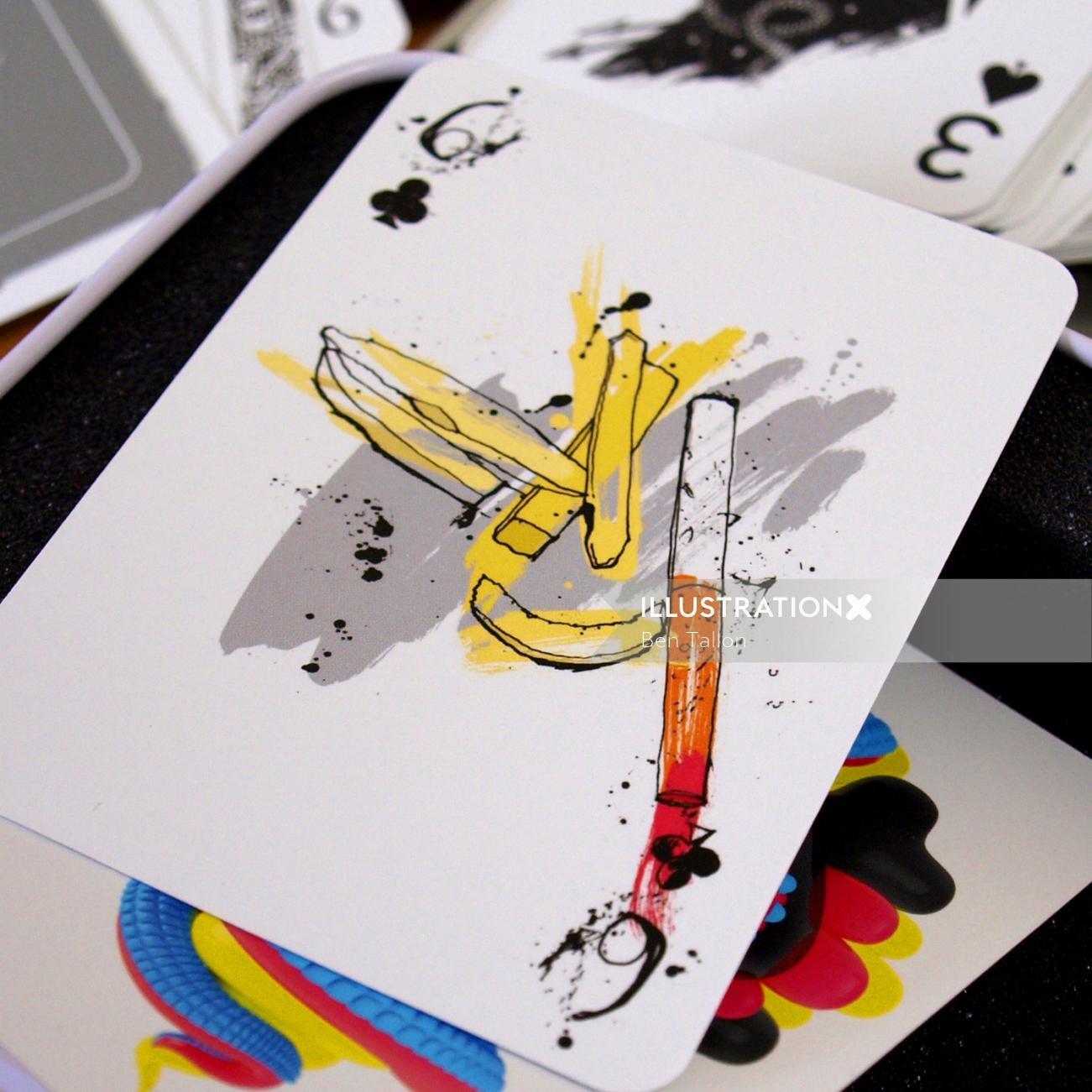 Original card design for Zeixs' 52 Aces project.