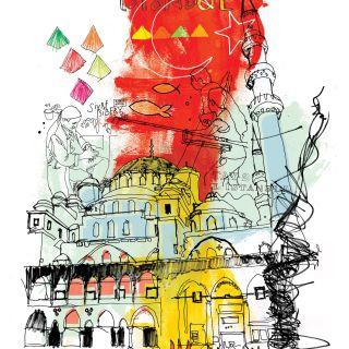 Istanbul cityscape illustration