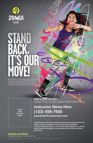Zumba Kids advertising campaign illustration