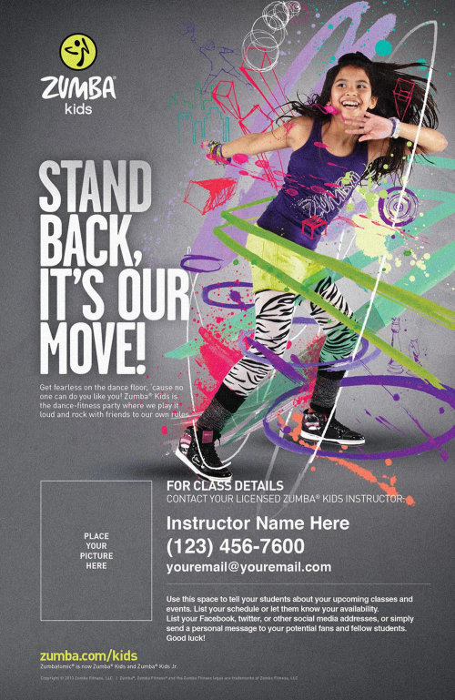 Zumba Kids advertising campaign illustration