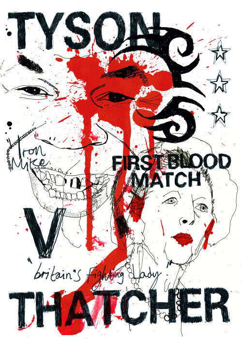 Poster desing for First blood match by Ben Tallon