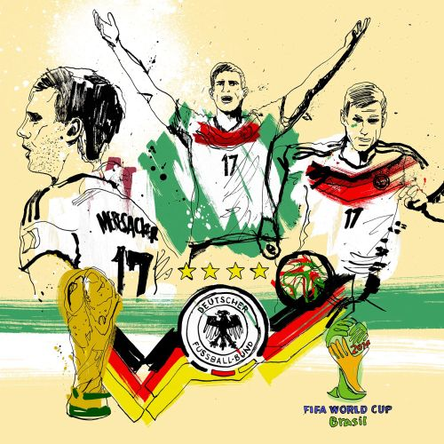 Animation artwork of Germany's world cup winning Per Mertesacker