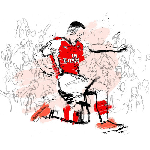 Illustration of Arsenal soccer player