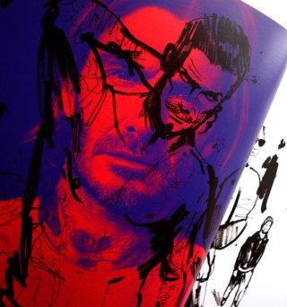 Pop illustration of handsome man
