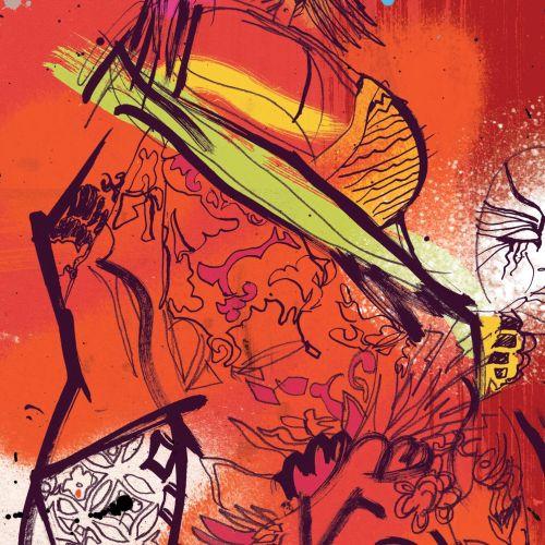 Ben Tallon Internationaler handgezeichneter organischer Illustrator. London