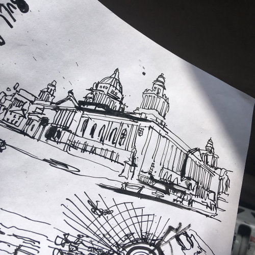 Belfast City Hall line drawing