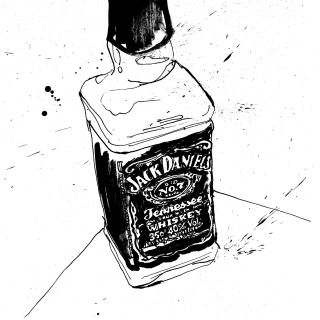Jack Daniels whiskey illustration