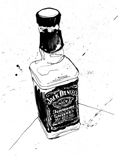 Jack Daniels whiskey illustration
