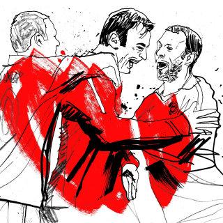 Manchester United premier league artwork
