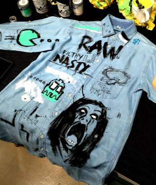 Fashion design of G star raw high street live