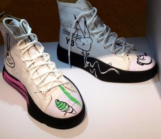 Custom sneaker live event design by Ben Tallon