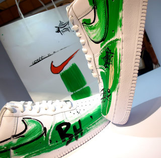 Nike Air Force One sneakers design by Ben Tallon