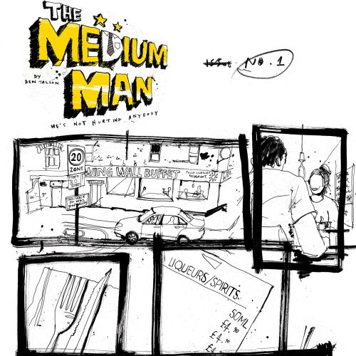 Contemporary artwork of medium man