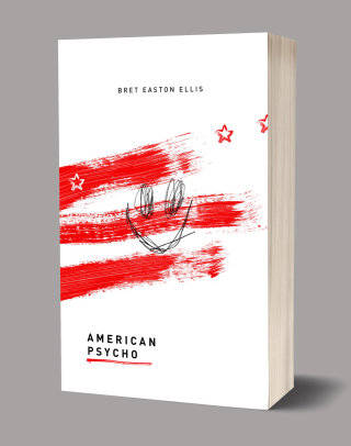 American Psycho book cover illustration by Ben Tallon