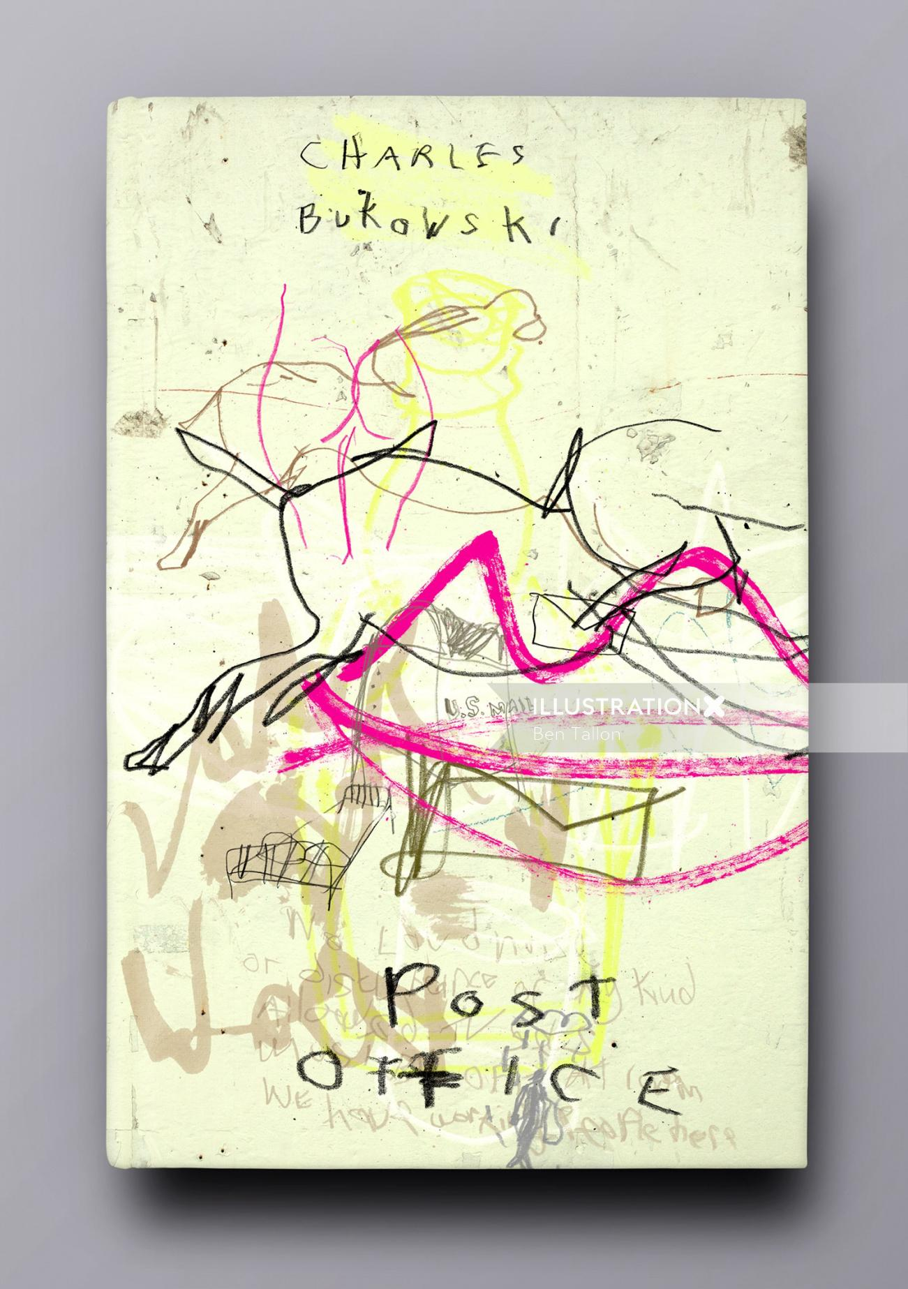 Post office drawing for Charles Bukowski