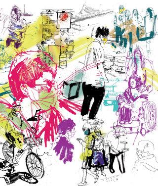 Asia people illustration