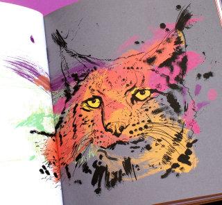Lynx watercolor illustration