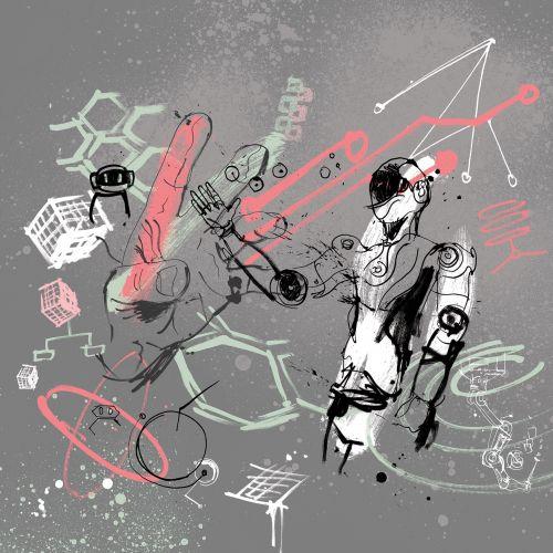 AI illustration of Tech robot technology by ben tallon