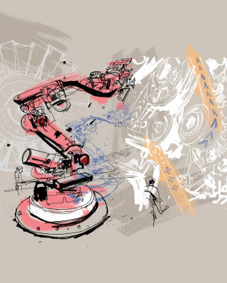 Industry machines drawing