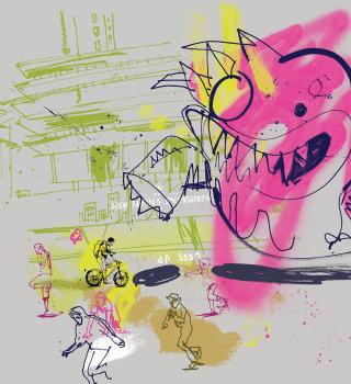 Look Up' Monster illustration by Ben Tallon