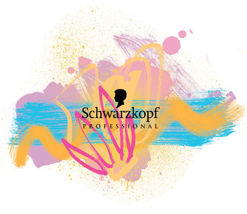 Schwarzkopf Professional hand painting for summer campaign