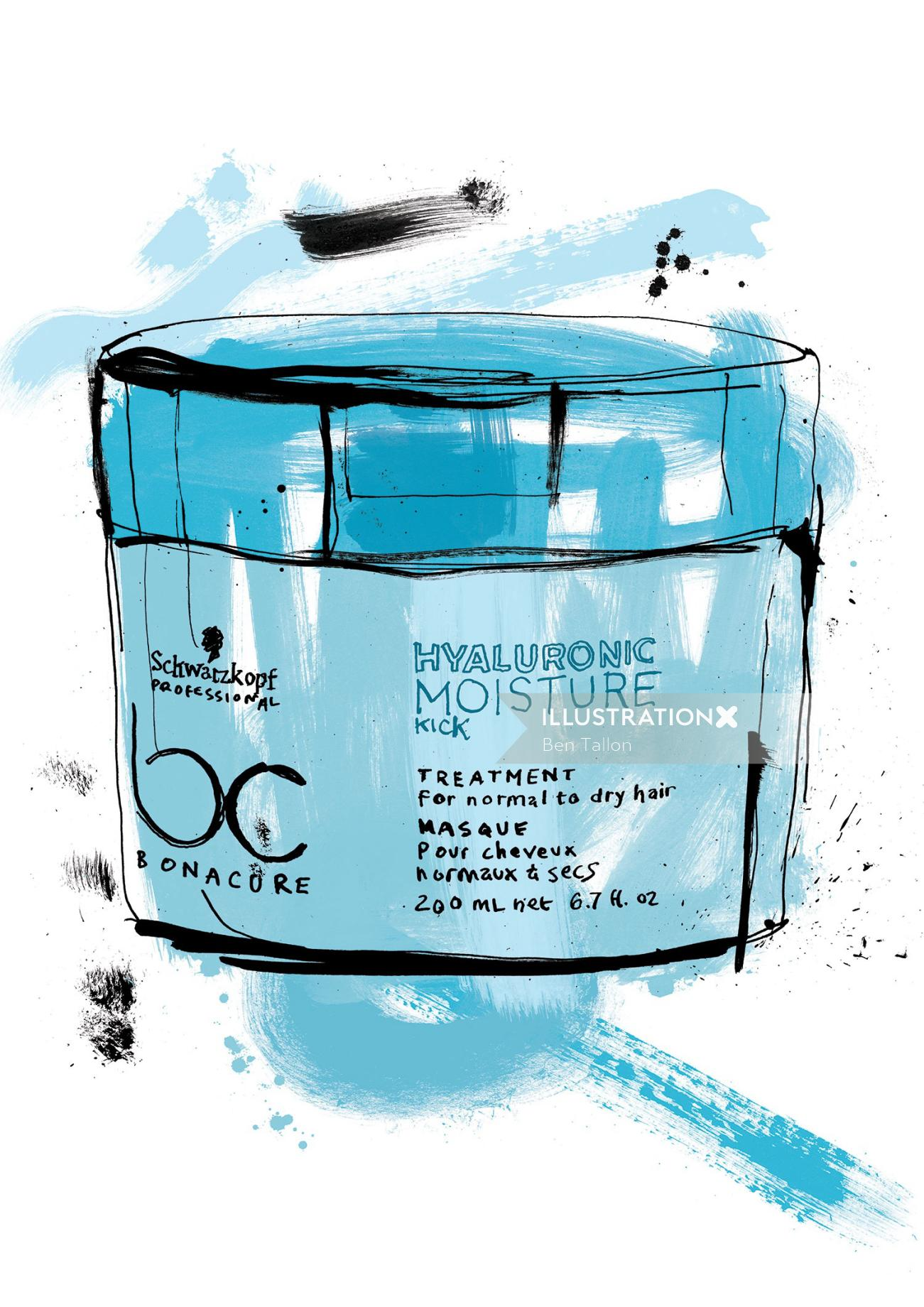 Schwarzkopf package illustration