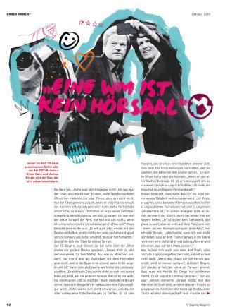 Editorial illustration of Oliver Kahn for Bayern Munich's 51 Magazine