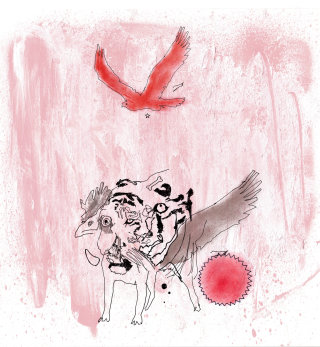 Weird animal hybrid editorial illustration