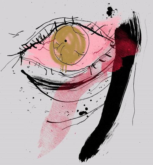 watercolour parent eye