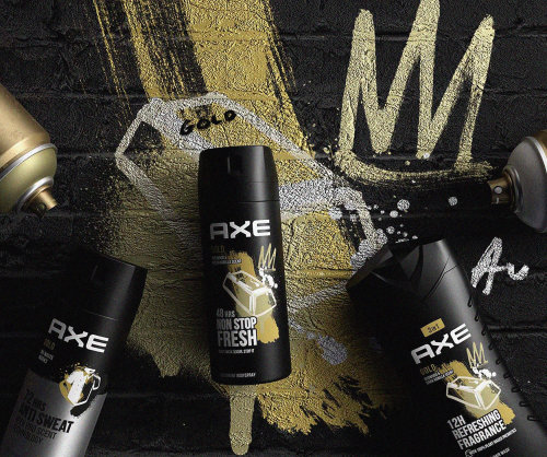 Advertising illustration of Axe deodorant