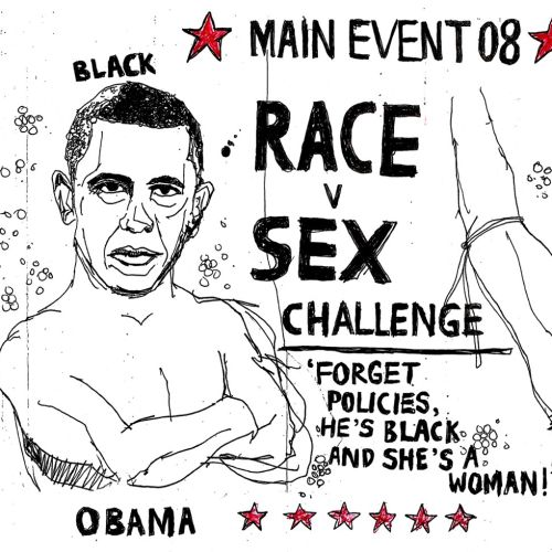 Poster design of Race v Sex Challenge by Ben Tallon