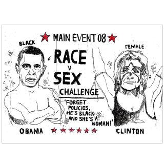Poster design of Race v Sex Challenge by Ben Tallon