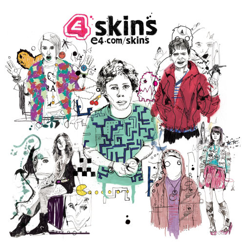 Artwork for E4 for the new series of Skins tv trailer