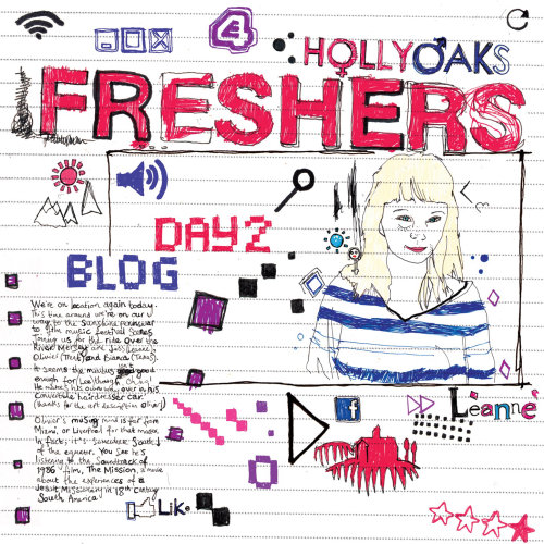 Animated Illustration for E4 Hollyoaks 'Freshers' trailer