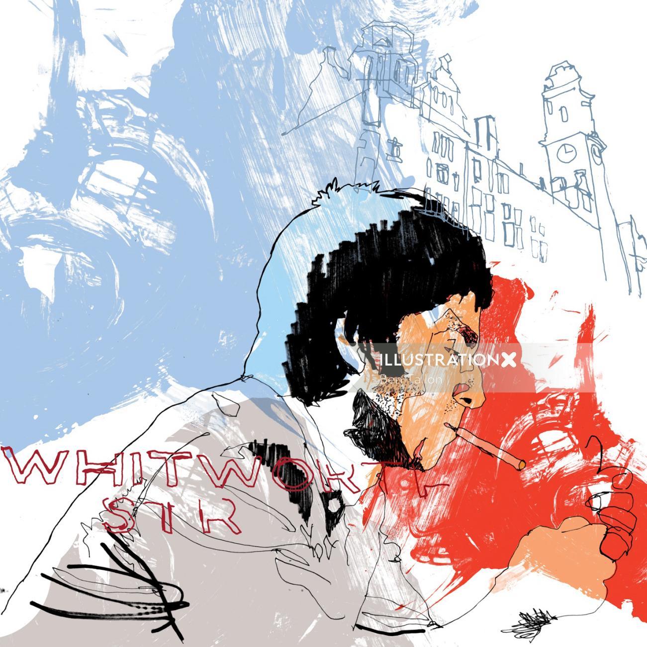 Noel Gallagher illustration by Ben Tallon