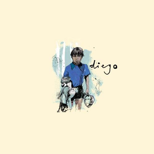 Contemporary artwork of Diego Maradona