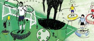 Football sport guardian illustration by Ben Tallon