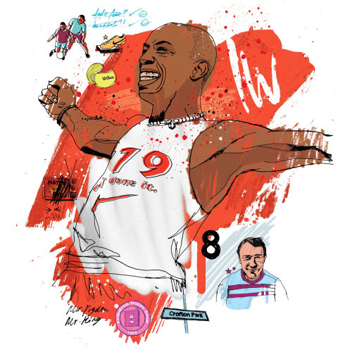 Ian Wright illustration by Ben Tallon