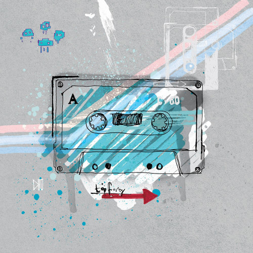 Water color design of Cassette