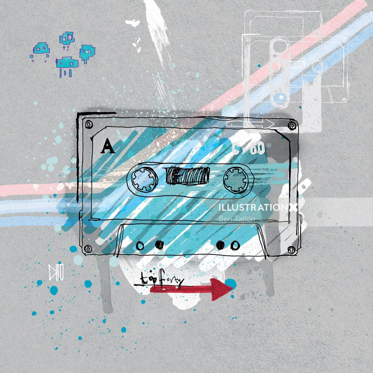 Water color design of Cassette