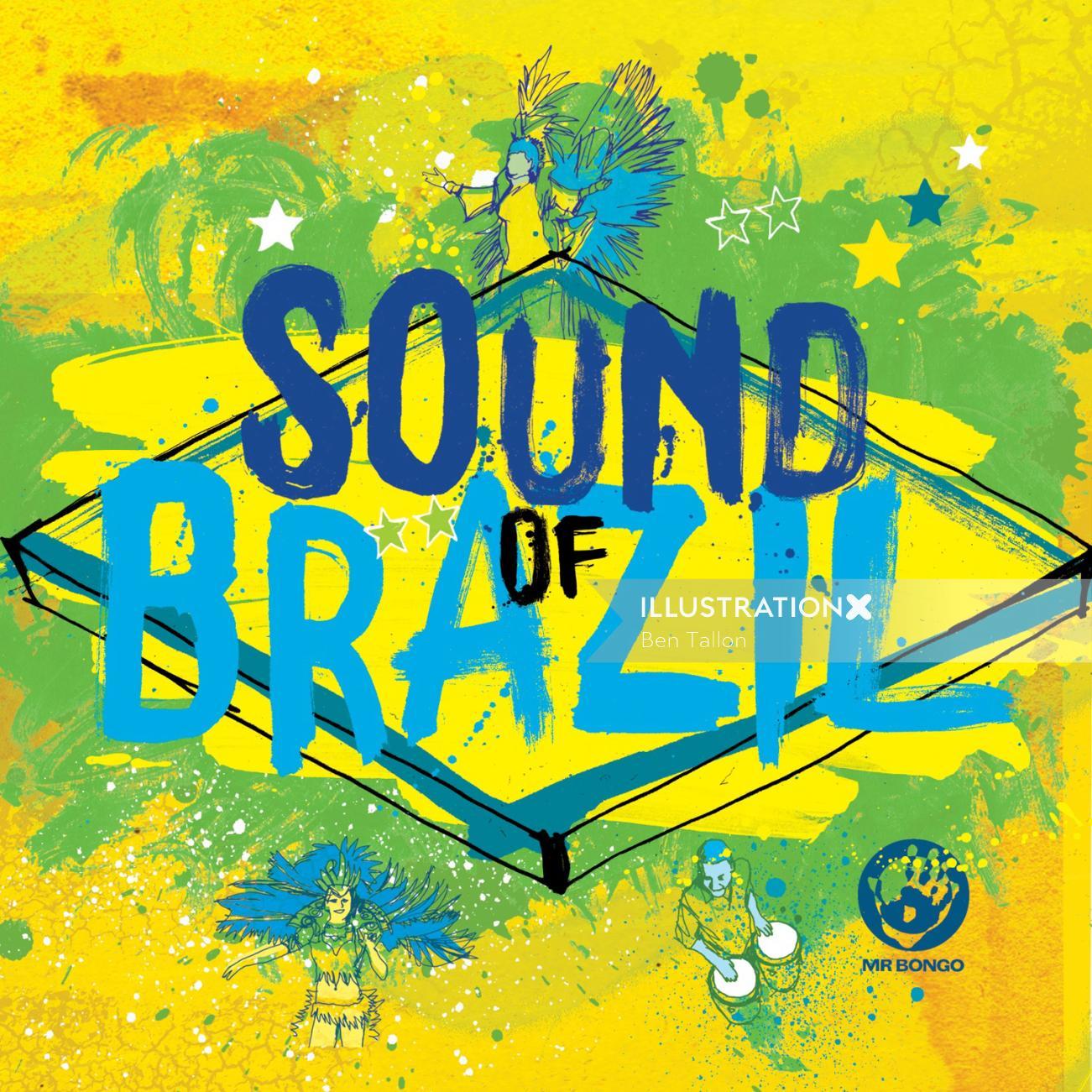 Brazilian music compilation sleeve artwork