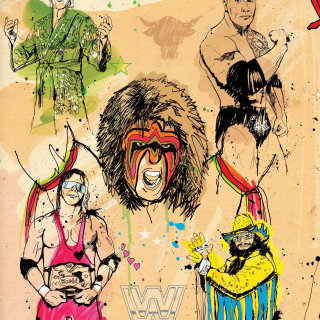 WWE Legends supplement cover design