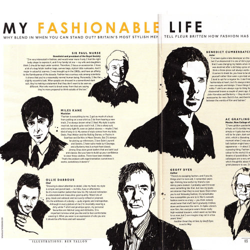 Sunday Times Style Magazine feature on Britain's most stylish men