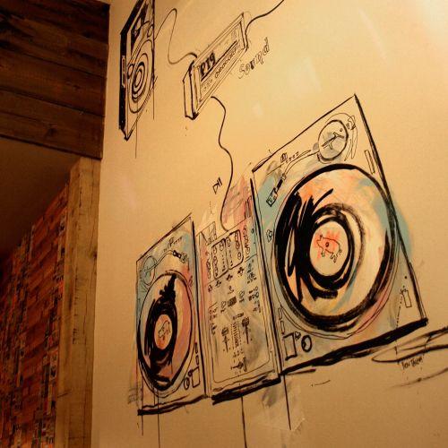 Mural artwork for restaurant by Ben Tallon