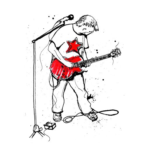 Guitarist illustration by Ben Tallon