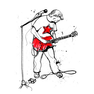 Guitarist illustration by Ben Tallon