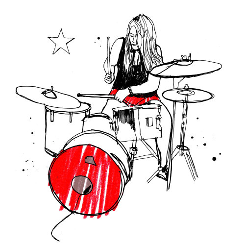 Drummer Illustration